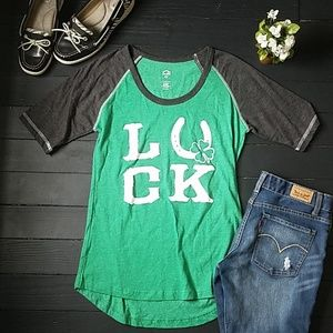 """Tops - St Patrick's day """"Luck"""" tshirt"""